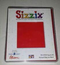 Sizzix Die Lg Square #1 Originals Photo Album Pages Scrapbook Diecut Retired NEW