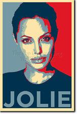 Angelina jolie art photo print (OBAMA HOPE Parodie) Cadeau Poster BRAD PITT