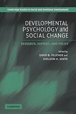 Developmental Psychology and Social Change: Rese, , Very Good