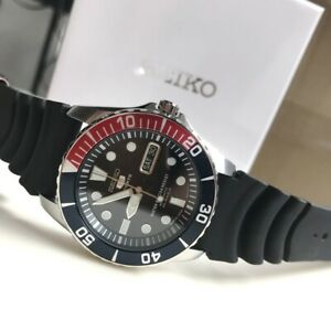 SNZF15J2 Automatic Diver Pepsi Bezel Black Rubber Strap Made in Japan Watch