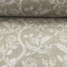 Beatrice Toile SAGE GREEN Linen/Cotton 140cm wide Curtain/Upholstery Fabric