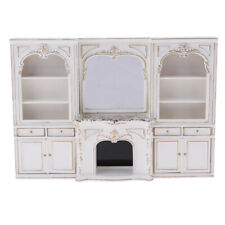 1/12 Dollhouse Furniture Wood Display Cabinet Model Miniature Accessories