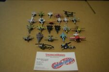 Vintage Galoob Micro Machines Lot Of 22 Mini Airplanes Jets Helicopters Gee Bee