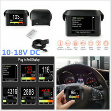 Car LCD Display OBD Digital Trip Computer Fault Code Multi-Function Meter -Black