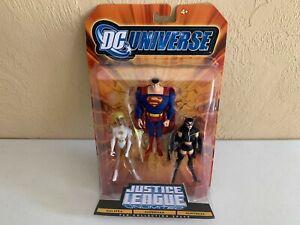 DC Universe Justice League Unlimited 3pk Galatea Superman Huntress