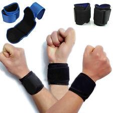 2PCS New Adjustable Sports Wrist Brace Wrap Bandage Support Gym Strap Wristband