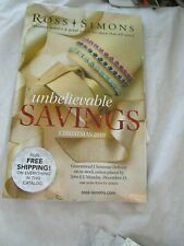 Ross Simons Jewelry Catalog Unbelievable Savings Christmas 2019 Brand New