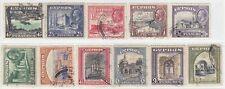 CYPRUS 1934  ISSUE  FULL SET USED SG.133/43 = SCOTT 125/35