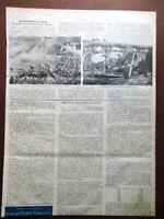 Articolo del 1902 Disastro Ferroviario Brindisi Giulio Bertini Gendarmeria Creta