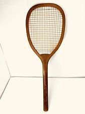 "Antique Vintage Tennis Racket Racquet - Wright & Ditson ""Star"" Checkered Handle"