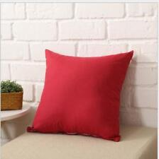 """Simple Solid Square Sofa Throw Cushion Cover Pillow Case Home Decor 18""""x18"""""""