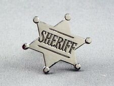 Metal Enamel Pin Badge Brooch Sheriff Sherriff Badge Deputy Wild West Law