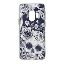 For Samsung Galaxy S9 Silicone Case Skull & Flowers Pattern - S491