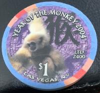 Mandalay Bay Hotel Casino Las Vegas 2004 $1 Year of the Monkey chip