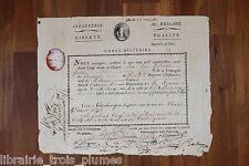 ✒ P.S. Congé 1796 Jean Louis COLMAIRE né à MIRVAUX - blessé à la jambe
