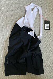 NEW Rapha Women's Core Bib Shorts X-Large XL Black/White Road Bike Classic