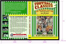 1962 NFL Title Game, Packers vs Giants plus '62 Packers & Giants highlights DVD!
