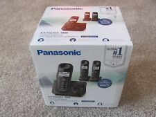 New Panasonic KX-TGL433B Cordless Telephone w/Digital Answering System 3-Handset