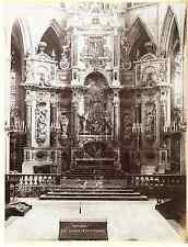 Toulouse retable de la cathédrale Vintage albumen print  Tirage albuminé  17