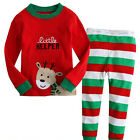 bébé garçons filles manches longues pyjama enfants coton ensemble nuisette