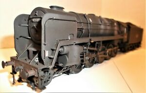 BACHMANN 9F IN BLACK WEATHRERED LIVERY LATE CREST DOUBLE CHIMNEY