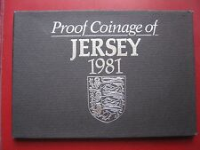 Jersey 1981 7 coin set Proof by Royal Mint from 1/2 penny to £1 pound cased card