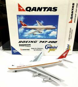 Gemini Jets GJQFA066 Qantas 1/400 scale Boeing 747-200 VH-EBA model plane avion