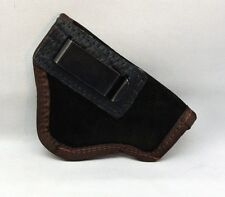 "SUEDE LEATHER INSIDE PANTS GUN HOLSTER FITS 2"" SNUB NOSE REVOLVERS S&W etc Brown"