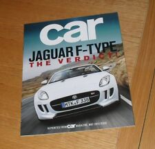 Jaguar F Type Car Magazine Promotional Reprint Brochure 2013