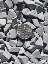 "Ceramic Tumbling Media 1 Lbs. 3/8"" X 1/4"" Triangle Tumbler Lapidary Abrasive"
