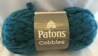 Patons Yarn Cobbles Tetra Teal Super Bulky Knit Knitting Crochet Crafts