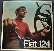1969 Fiat 124 Catalog Brochure Sport Spider Coupe Wagon Nice Original Canadian