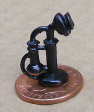 1:12 Upright Black Antique Telephone Dolls House Miniature Accessory 550