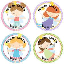 24 individuelle Sticker Schule – mit Fee Motiv für Mädchen - PAPIERDRACHEN