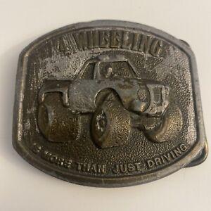 Vintage Bergamot Brass Works 4 Wheeling Belt Buckle 1976 Number Well Used