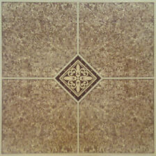Brown Beige Vinyl Floor Tile 40 Pcs Adhesive Flooring - Actual 12'' x 12''