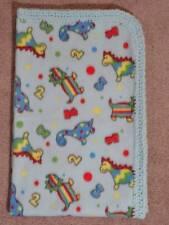 Crib/Nap/ Fleece Blanket/Handmade - Baby Dinos And Alphabet Letters