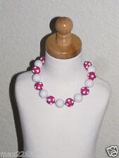 New Acrylic Chunky Beads Bubblegum Gumball Jewlery Necklace pink Minnie
