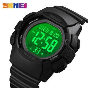 SKMEI Electronic Digital Display Sport Watch LED PU Strap Wristwatches 1771 6E7
