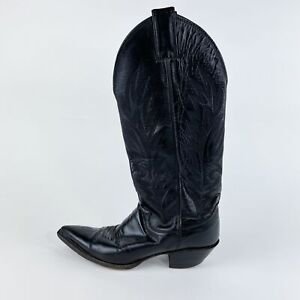 Justin Cowgirl Boots Size 5B Style B1863 - Women's / Black