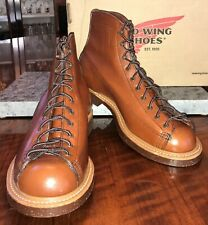 FIRST QUALITY: Red Wing 2996 Heritage Lineman Boots SZ: 8D Color: Cigar Retan