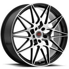 4 Revolution R11 18x8 5x45 40mm Blackmachined Wheels Rims 18 Inch Fits 2011 Toyota Camry