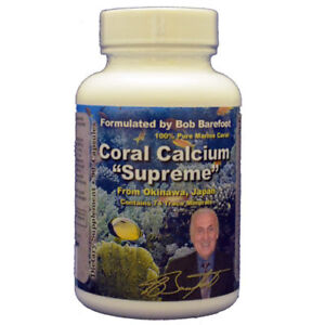 "Coral Calcium Supreme 1000 w/ Cesium by Barefoot ""SMP44 Marine Coral"" - 6 Pack"