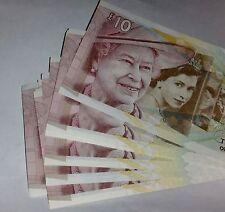 Royal Bank of Scotland £10  Diamond Jubilee 2012 banknote prefix  TQD J0070821