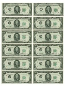 $100 Dollar x 12 Notes printed on Edible Icing sheet, cake toppers