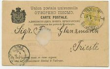 Montenegro GA Postkarte nach Triest 1901