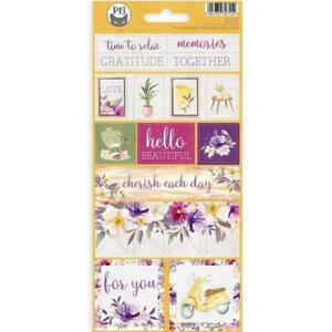 """P13 Time To Relax Cardstock Stickers 4""""x 9"""" #02"""