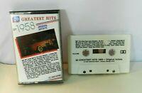 20 Greatest Hits 1958 Cassette Tape Original Artists 1987