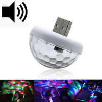 Mini USB LED Car Atmosphere Lamp Interior Lighting Multi Color Light Neon