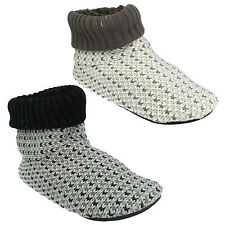 CLARKS KITE CUFF MENS FLEECE LINED WARM PULL ON INDOOR WINTER BOOTY SLIPPERS